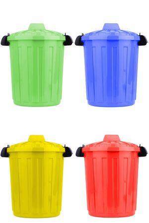 botes de basura: Botes de basura Foto de archivo