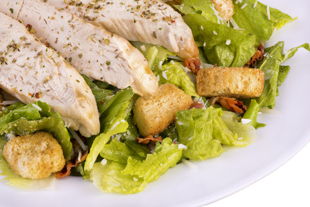 chicken caesar salad: Fresh chicken caesar salad Stock Photo