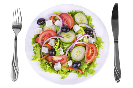 salad fork: Fresh healthy salad Stock Photo