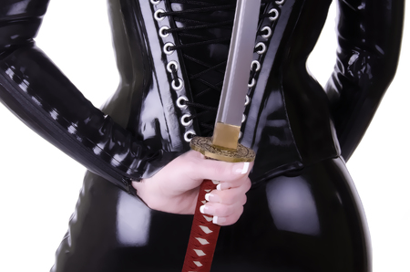 role play: Sexy woman with katana