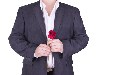 lovely: Romantic and lovely man. Stock Photo