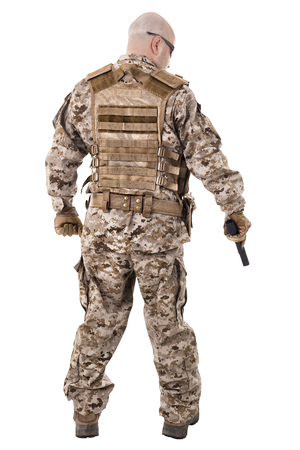 army soldier: Soldier in uniform, ready to fight Stock Photo