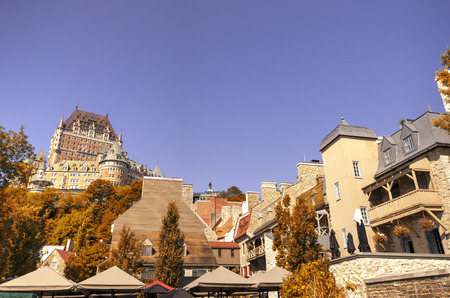 chateau: Chateau Frontenac in Quebec city Canada Stock Photo