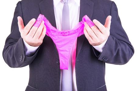 Unternehmer, die eine rosa Höschen. Standard-Bild - 40024417