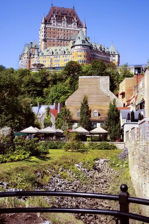 Old Quebec city Canada. Stok Fotoğraf