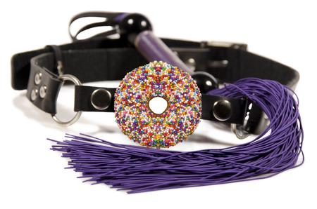 Donut bâillon de boule et le fouet Banque d'images - 42479135