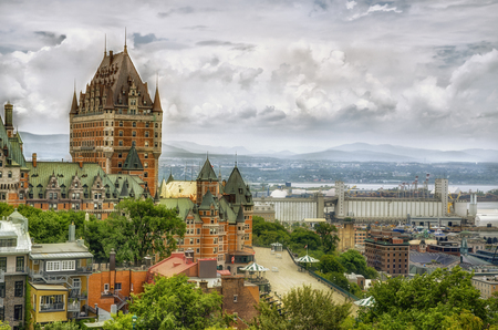 Chateau Frontenac in Quebec city, Canada 免版税图像