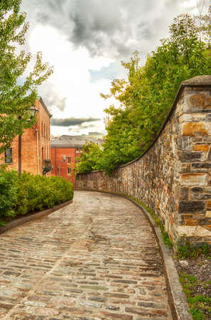 Old Quebec alley Stock Photo