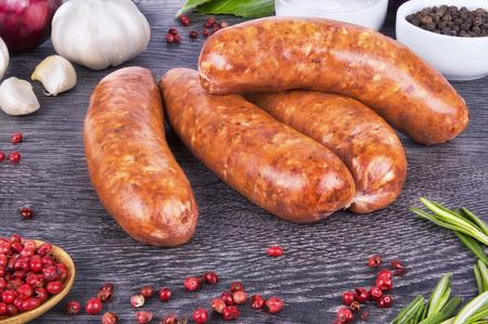 veal sausage: Raw sausage