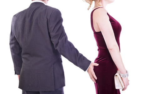 grabbing back: Sexual harassment concept