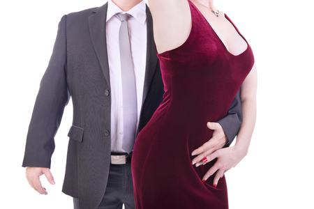 velvet dress: Dancing couple
