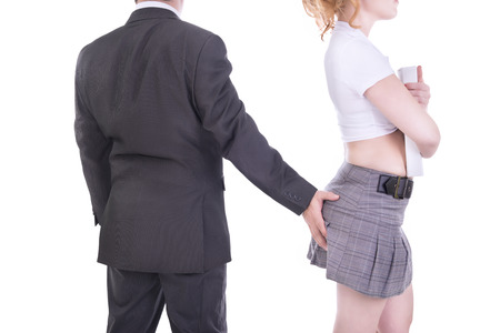 suit skirt: Sexual harassment concept