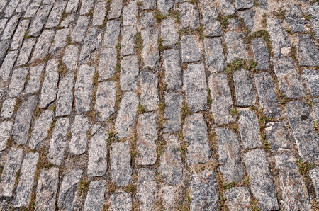 cobblestones: Street with cobblestones Stock Photo