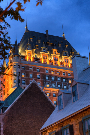 quebec city: Chateau Frontenac at night