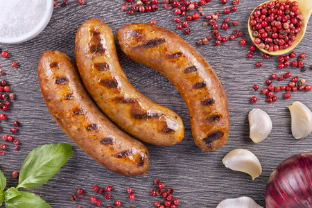 veal sausage: Grilled sausage