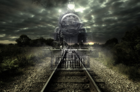 ghoul: Ghost train Stock Photo