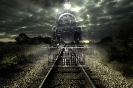 Ghost train Archivio Fotografico