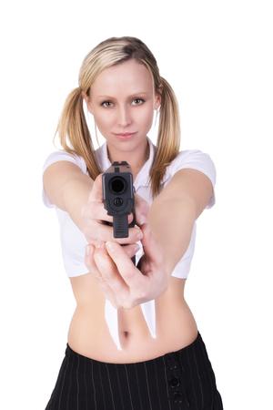 killer: Sexy woman killer Stock Photo