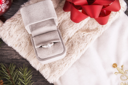 christmas sock: Wedding ring