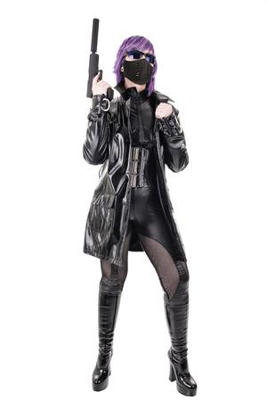 catsuit: Sexy woman killer Stock Photo