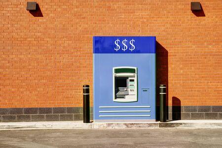 thru: Bank drive thru in sunny summer day.