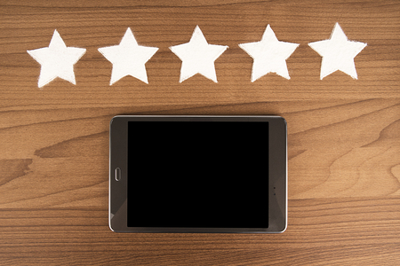 Five star product quality rating on cooking