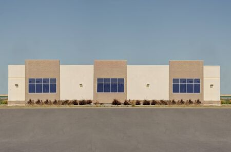 Side view of an unoccupied generic store, business or professional office space.
