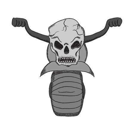 demise: hand drawing motorcycles with a skull in the style of cartoons, Tattoo, icons, bikers, backgrounds and holidays