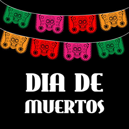 death: Dia de Muertos - Mexican Day of the death spanish text. decoration