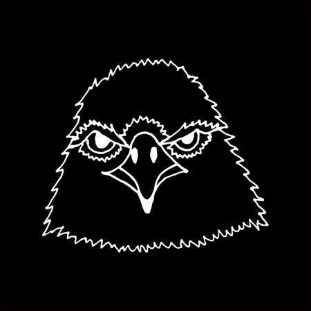 bird  celtic: monochrome hand draw eagles head.