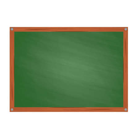 green board: School green board in Cartoon style  isolated on white background Illustration