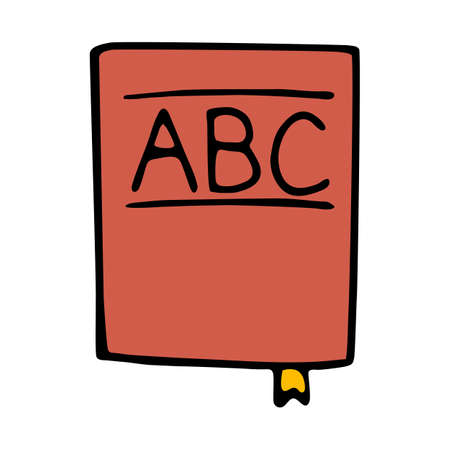 thesaurus: abc book icon isolated on white background in style hand draw