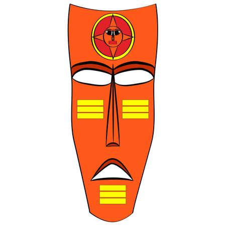 Ethnic tribal mask. cartoon flat illustration isolated on white background