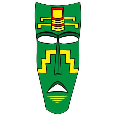 decoration decorative disguise: Ethnic tribal mask. cartoon flat illustration isolated on white background