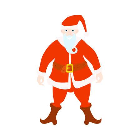 Funny santa. Christmas greeting card background poster