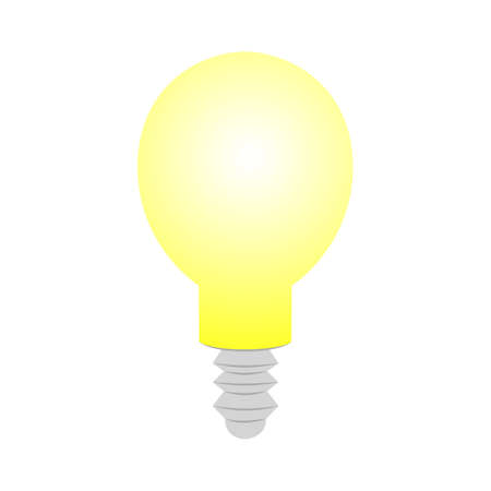 Lamp bulb Icon isolated on white background