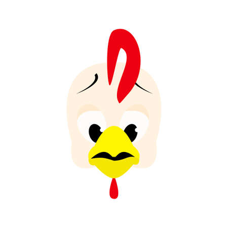 girders: Emotions cock icon. Character cartoon rooster head