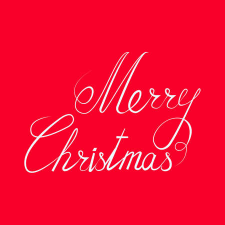 caligraphy: Merry Christmas text Calligraphic. Lettering Christmas design card template Creative typography for Holiday Greeting Gift Poster. Calligraphy Font style Banner