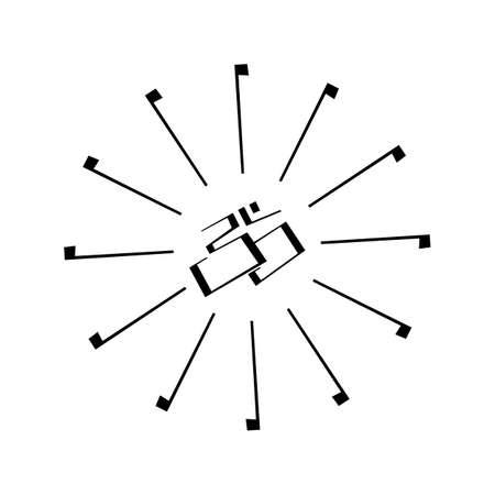 om: Om Indian sign and symbol isolated on white background Illustration