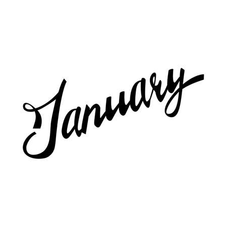 hand lettered: january. Hand Lettered Quote. Modern ink Calligraphy