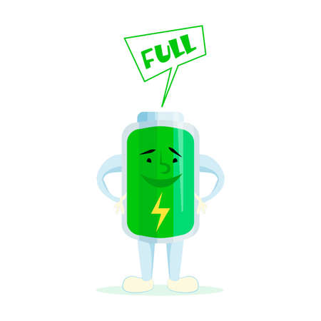 tried: High battery. Cartoon battery charge. Comic characters