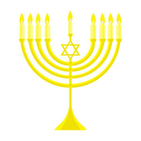 happy Hanukkah, Jewish holiday. Hanukkah menorah isolated on white background Stock Photo