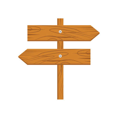 guidepost: Wooden arrow grunge. Wooden sign arrow icon isolated on white background