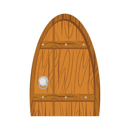 flooring: wooden old door, home interior