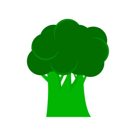 kale: Broccoli icon, filled flat sign, solid colorful pictogram isolated on white, logo illustration