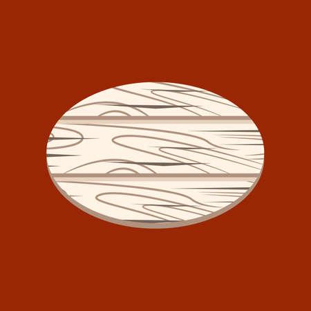 wood panel: Round Wood Sign icon cartoon isolated on white background