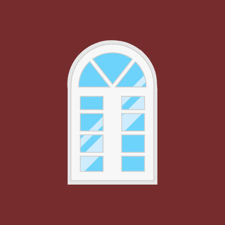 window type. For interior and exterior use. Flat style.