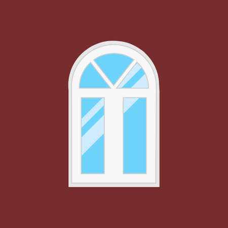 casement: window type. For interior and exterior use. Flat style.