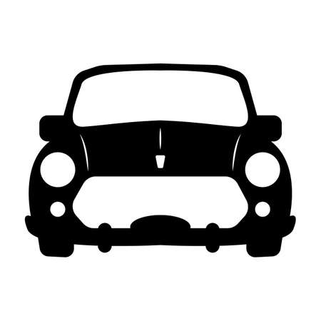 Luxury car sedan or performance car front view flat icon for apps and websites