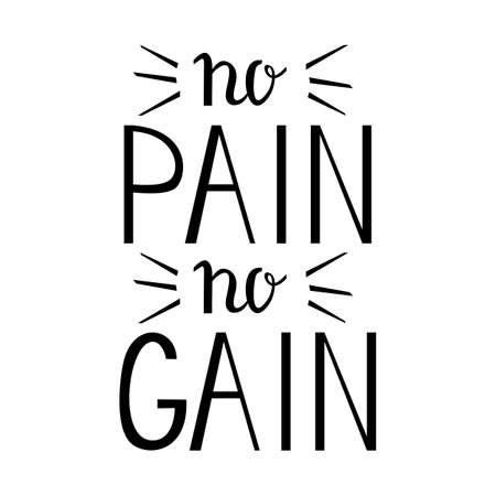 No pain No gain - Inspiring and motivating words. Gym and workout poster design. Typographic concept. Vintage poster design